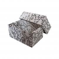 černá skládací krabička dno-víčko s vložkou 110x65x50 mm