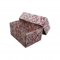 červená skládací krabička dno-víčko s vložkou 110x65x50 mm
