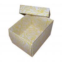 žlutá skládací krabička dno-víčko s vložkou 110x65x50 mm