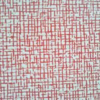 Balící papír červená mřížka archy 70x100 cm